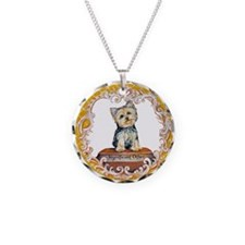 Yorkie Significant Other Necklace Circle Charm