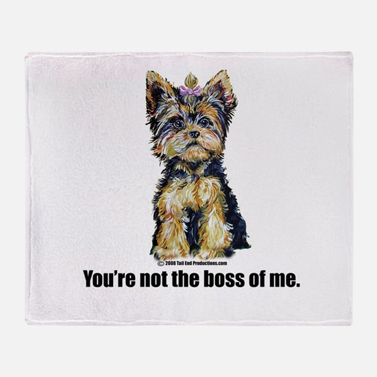 Yorkshire Terrier - Yorkie Bo Throw Blanket