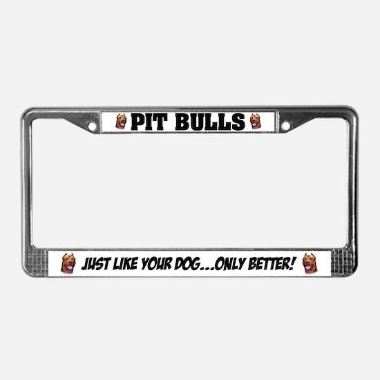 Pit Bulls License Plate Frame