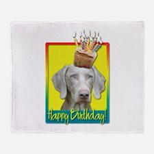 Birthday Cupcake - Weimie Throw Blanket