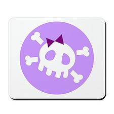 Lilac Skull Mousepad