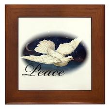 Dove of Peace Framed Tile