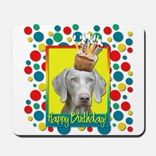 Birthday Cupcake - Weimie Mousepad