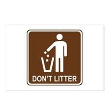 Don't Litter Postcards (Package of 8)