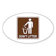 Don't Litter Decal