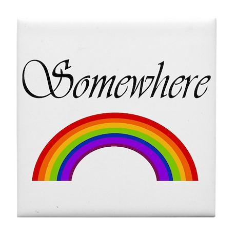 Somewhere Over the Rainbow Tile Coaster