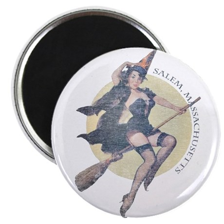 Vintage Salem Witch Magnet