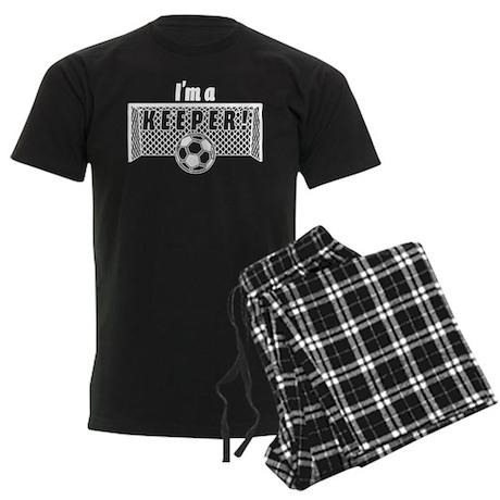 I'm a Keeper Soccer Goal Keep Men's Dark Pajamas