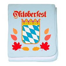 Oktoberfest baby blanket