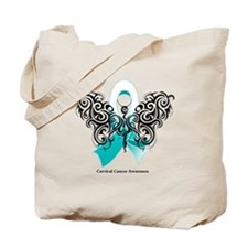 Cervical Cancer Tribal Tote Bag