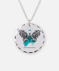 Cervical Cancer Tribal Necklace Circle Charm