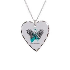 Cervical Cancer Tribal Necklace Heart Charm