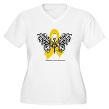 Childhood Cancer Tribal T-Shirt