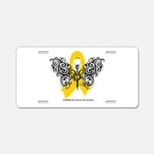 Childhood Cancer Tribal Aluminum License Plate