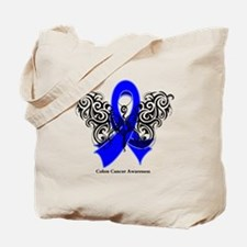 Colon Cancer Tribal Tote Bag