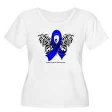 Colon Cancer Tribal T-Shirt