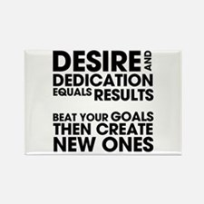 Desire and Dedication Rectangle Magnet