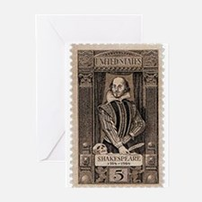 Shakespeare US Stamp Greeting Cards (Pk of 10)