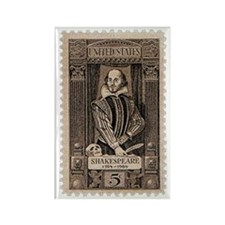 Shakespeare US Stamp Rectangle Magnet