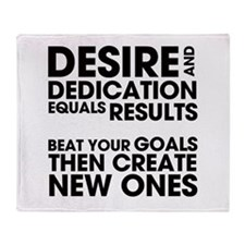 Desire and Dedication Throw Blanket