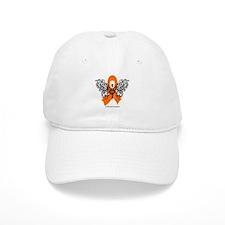 Leukemia Tribal Butterfly Baseball Cap