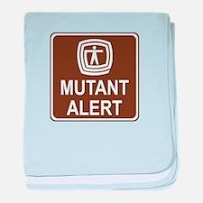 Mutant Alert baby blanket