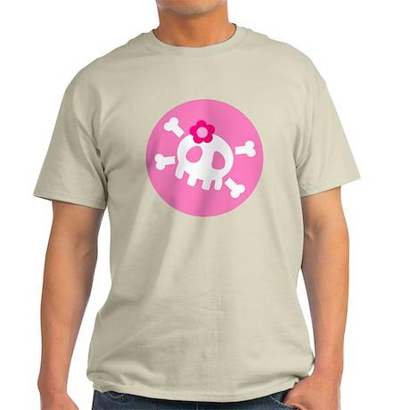 Pink Skull Light T-Shirt