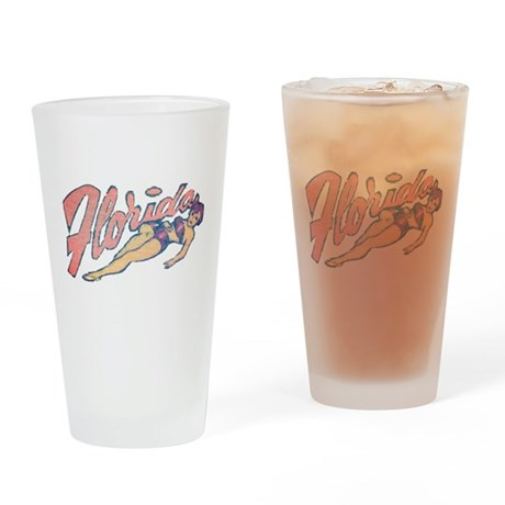 Vintage Florida Babe Pint Glass
