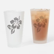 Hawaiian Flower Drinking Glass