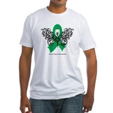Liver Cancer Tribal Butterfly Shirt