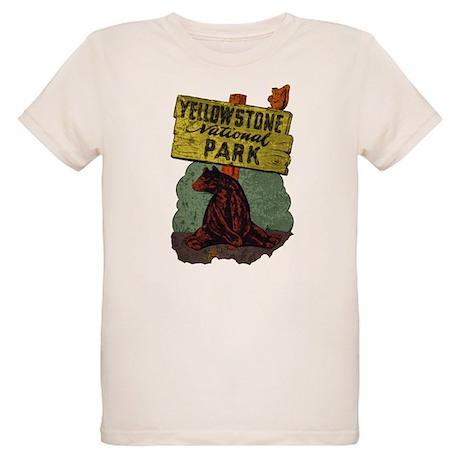 Vintage Yellowstone Organic Kids T-Shirt