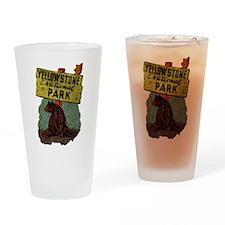 Vintage Yellowstone Pint Glass