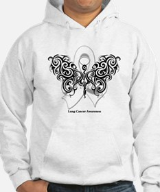 Lung Cancer Tribal Butterfly Hoodie