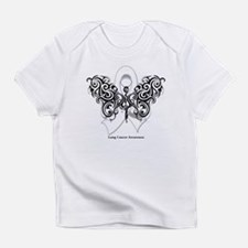 Lung Cancer Tribal Butterfly Infant T-Shirt