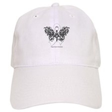 Lung Cancer Tribal Butterfly Baseball Cap
