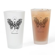 Lung Cancer Tribal Butterfly Pint Glass