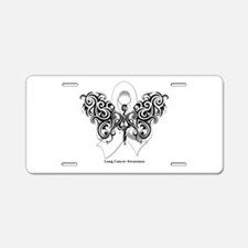 Lung Cancer Tribal Butterfly Aluminum License Plat