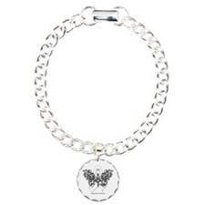 Lung Cancer Tribal Butterfly Charm Bracelet, One C