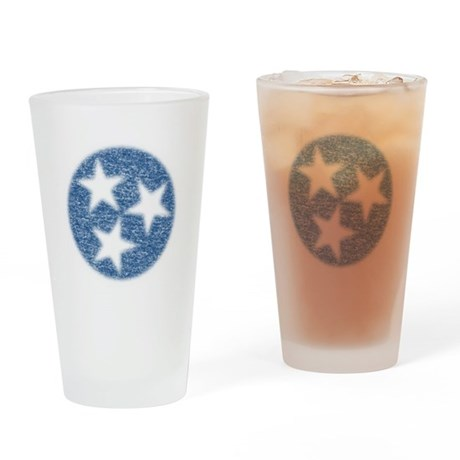 Faded Tennessee Flag Drinking Glass