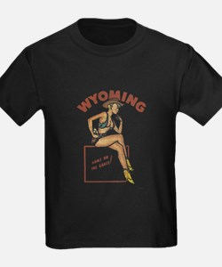 Faded Wyoming Pinup T
