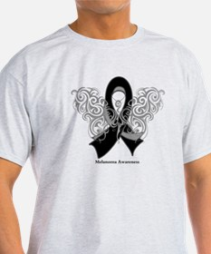 Melanoma Tribal Butterfly T-Shirt