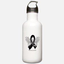 Melanoma Tribal Butterfly Water Bottle