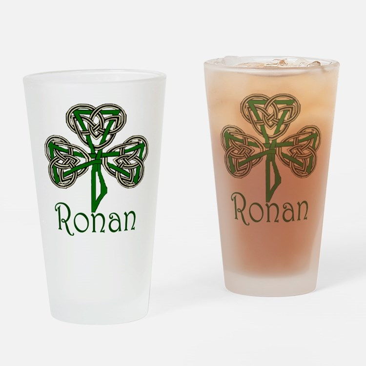 Ronan Shamrock Pint Glass