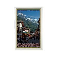 Chamonix Town Rectangle Magnet