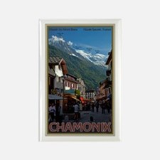 Chamonix Town Rectangle Magnet