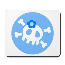Blue Skull Mousepad