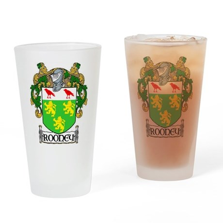 Rooney Coat of Arms Pint Glass