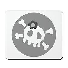 Gray Skull Mousepad