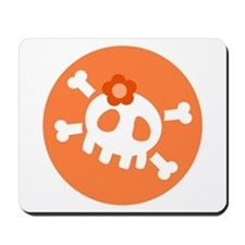 Orange Skull Mousepad