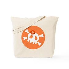Orange Skull Tote Bag